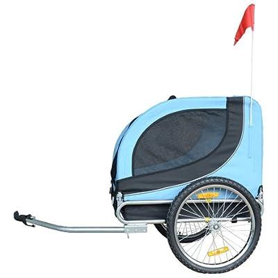 Image of MDOG2 MK0001 Comfy Pet Bike Trailer, Blue/Black Pet Supplies