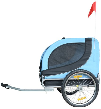 MDOG2 MK0001 Comfy Pet Bike Trailer, Blue/Black by MDOG2
