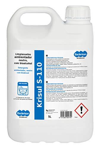 BACTERISAN Bacterisan Krisul S-110 5L ontvetter vloerreiniger met biologische alcohol, concentraat met bloemengeur, 5000…