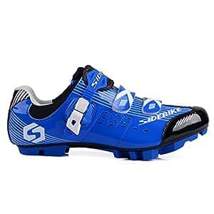 Smartodoors Women's Men's All-Road and MTB II Cycling Shoes(Blue for MTB, US7.5/EU40/Ft25cm)