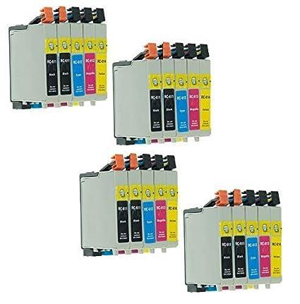 20 Cartuchos de Impresora con Chip con Libre Elección Del Color ...