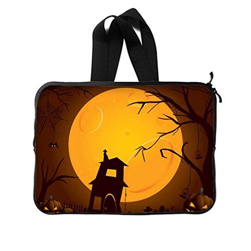 [JIUDUIDODO Custom Cool Halloween Evil Jack with Bat Neoprene Laptop Sleeve 14