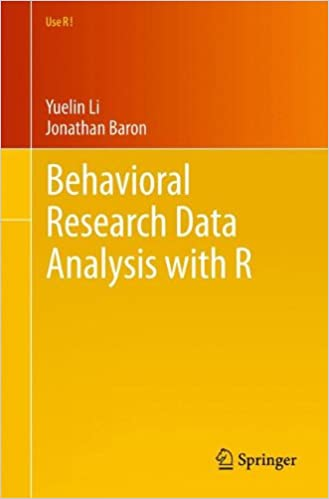 e-book Behavioral Research Data Analysis with R (Use R!)