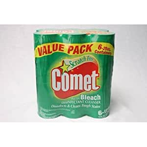6 Pack 28oz Comet Powder Cleanser with Bleach
