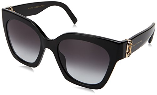 Marc Jacobs Women's Marc 182/S Black With Dark Gray Gradient Lens - Sunglasses Jacobs Marc Heart