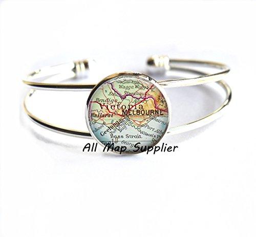 Charming Bracelet,Melbourne map Bracelet, Melbourne map Bracelets, Melbourne Bracelet, Melbourne - Store Ballarat