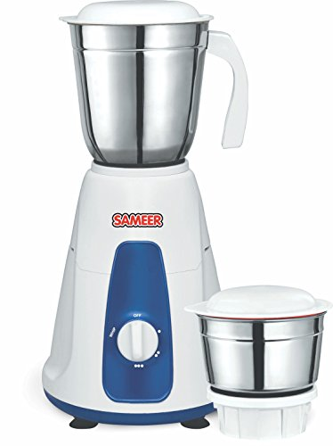 Sameer I-Flo Cristo 550-Watt Juicer Mixer Grinder (Silver/White)