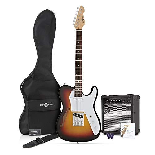 Guitarra Semi-hollow Knoxville + Pack de Ampli de 15W - Sunburst ...