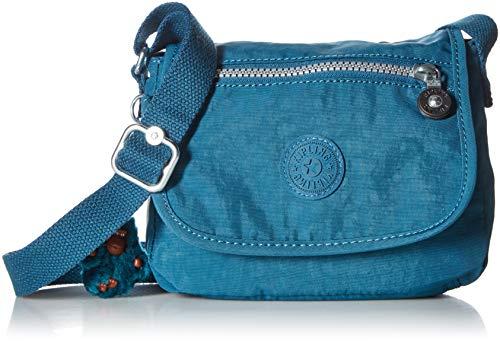 Kipling Sabian - Mini bolso bandolera, Gleaminggreen, Talla unica