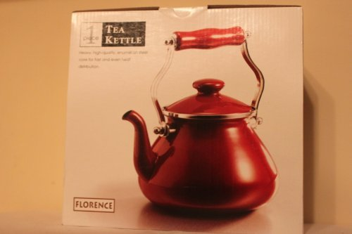 Florence Enamel on Steel 2.5 Quart Tea Kettle