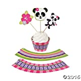 Panda Party Cupcake Wrappers with Picks - Makes 50