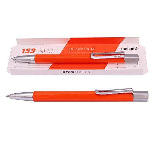 Monami 153 NEO, Ball Point Pen 0.7 mm Metal Body (Black I...