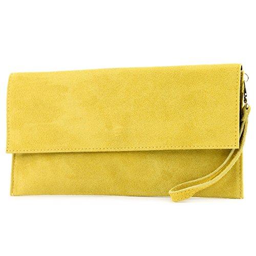 modamoda de - Made in Italy - Cartera de mano para mujer amarillo