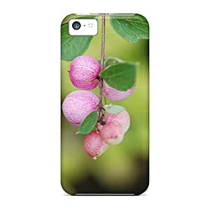 Iphone 5c Case, Premium Protective Case With Awesome Look - Pink Snowberry