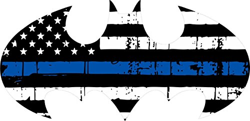 Thin Blue Line Decal Vinyl Sticker Batman Logo Flag Style Decal Vinyl Sticker Window Decal Vinyl Sticker 4