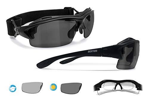 42768027c2c Bertoni Prescription Sport Polarized Sunglasses – Photochromic Polarized  Lenses - Sport Goggles with Optical Clip for