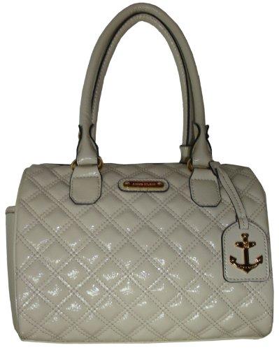 Anne Klein Women's Sea Breeze Satchel Handbag, Cream