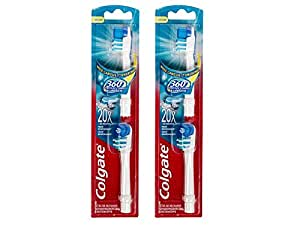 Colgate - Cabezal para cepillo de dientes a pilas 360° (2 paquetes de 2 cabezales)