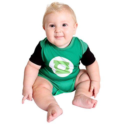 Fantasia Body Verão Lanterna Bebê Infantil Sulamericana Fantasias Verde P-3 Meses