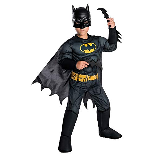 (Rubie's Costume Boys DC Comics Deluxe Batman Costume, Small,)
