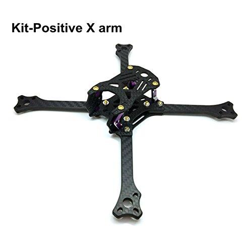 211mm FPV Frame Racing Quadcopter Kit Carbon Fiber Forerake X Arm Frame Kit by Crazepony (Positive Frame Kit)