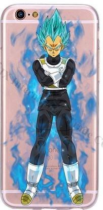 Coque silicone Iphone 6 ou 6s DBZ Sayen Vegeta Bleu (livraison gratuite en France)