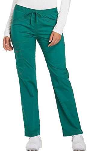 Dickies Essence Women's Straight Leg Drawstring Scrub Pant X-Small Hunter Green ()