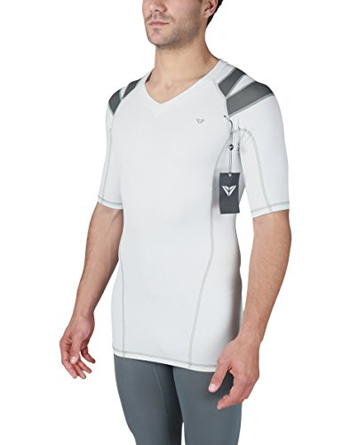 IntelliSkin Newest Men's Foundation Vtee - Posture Correcting + Performance