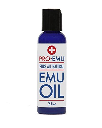 PRO масла эму (2 унции) Чисто All Natural Emu Oil - AEA Certified - Сделано в США - Best All Natural Масло для лица, кожи, волос и ногтей. Отлично подходит для сухой кожи, ожоги, солнечные ожоги, шрамы, мышц и суставов