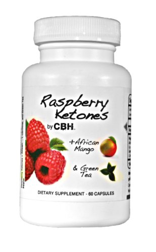Raspberry Ketones by CBH (500mg) plus African Mango, L-Carnitine, Green Tea, and Cocoa Bean Extract
