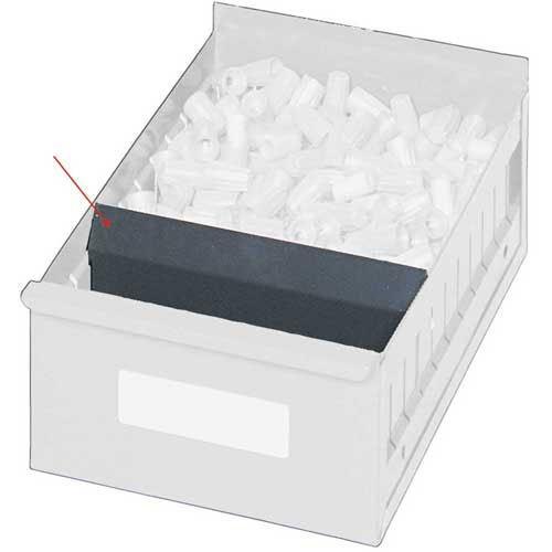 Edsal Dividers For High-Density Drawer Shelving - Fits 5480900, 5481200 - Gray