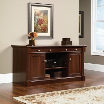 Sauder Palladia Credenza, Select Cherry Finish