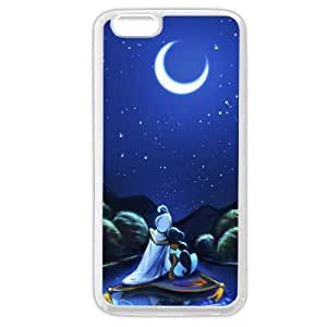 """Customized White Soft Rubber(TPU) Disney Cartoon Movie Aladdin Jasmine iPhone 6 Plus Case, Only fit iPhone 6+ 5.5"""" by Maris's Diary"""