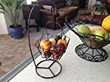 Square Wire hanging Basket With 15'' Stand (Black Powder Coated) Pack of 20