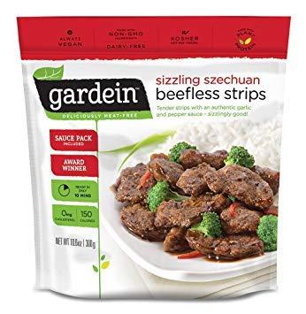 Gardein Sizzling Szechuan Beefless Strips 10.6 ounce (Pack of 8)