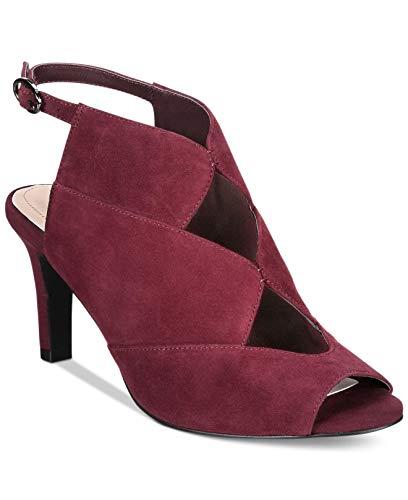 Alfani Womens Nayaah Leather Peep Toe Casual Slingback, Mulberry, Size 8.0
