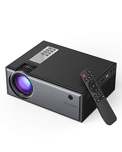 Mini Beamer, BlitzWolf Projektor Tragbarer Videoprojektor Unterstützt 1080P Full HD mit Fernbedienung, 50000 Stunden…
