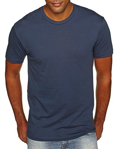 Next Level Premium Fit Extreme Soft Rib Knit Jersey T-Shirt, Indigo, Large