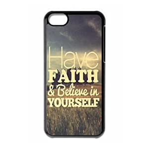 Custom AXL372316 Hard Anti-Scratch Phone Case For Iphone 5C Cover Case w/ Positive Energy Slogans