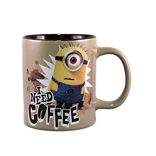 Silver Buffalo DM2334 Universal Despicable Me Minion Needs Coffee Jumbo Ceramic Mug, 20-Ounces (Jumbo Ceramic Mug)