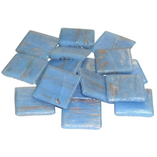 MosaixPro 20 x 20 x 4 mm 200 g 72-Piece Goldline Glass Tiles Light Blue