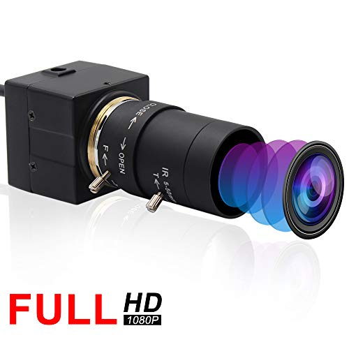Webcamera usb 2MP 5-50mm Varifocal Lens USB Camera CMOS OV2710 Sensor,Webcam Support 1920X1080@30fps,UVC Compliant Web Camera Support Most OS,Focus Adjustable USB with Camera,High Speed USB2.0 Webcams (Best High Speed Camera For Golf)