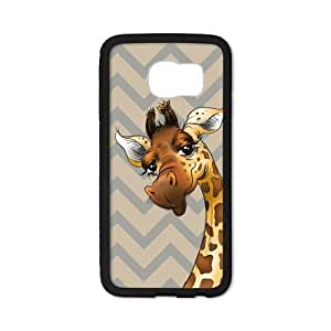 Tobe cartoon Giraffe big eyes cute Custom baby giraffe Case for SamSung Galaxy S6 edge(Laser Technology)