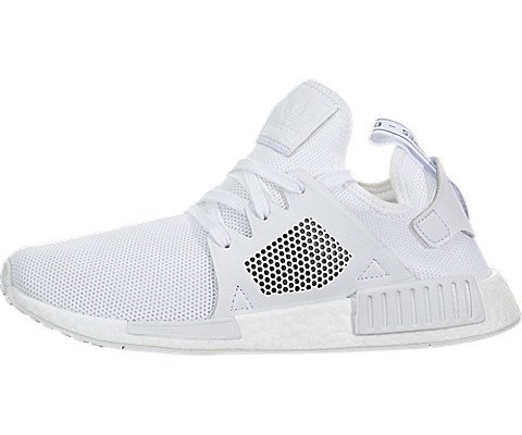 adidas Originals Men's NMD_XR1 Sneaker, White/White/White, 9.5 M US