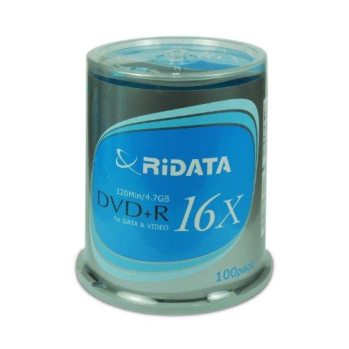 Ridata DVD+R 16x Ridata-S in 100-piece cake box (Discontinued by Manufacturer) by Ritek