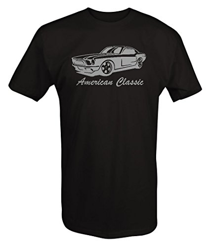 Mustang Black Shirt (Stealth - American Classic Ford Mustang GT Muscle Car T shirt - Xlarge)