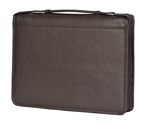 Echte Braun Leder-Folio-Tasche Herren Veranstalter Binder A4 Papier Dokument Filofax Tasche - BARON