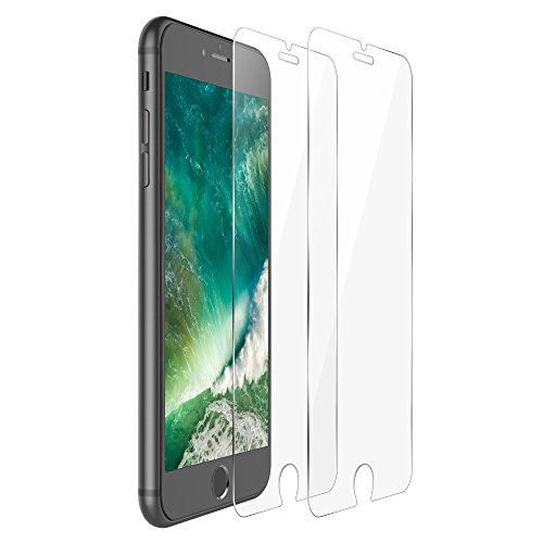 iPhone 7 Plus Screen Protector,F-color iPhone 7 Tempered Glass Screen Protector Clear iPhone 7 Plus Screen Cover Film Anti Scratch Bubble Free Easy to Install HD Clear, Life Time Warranty, 2 Pack