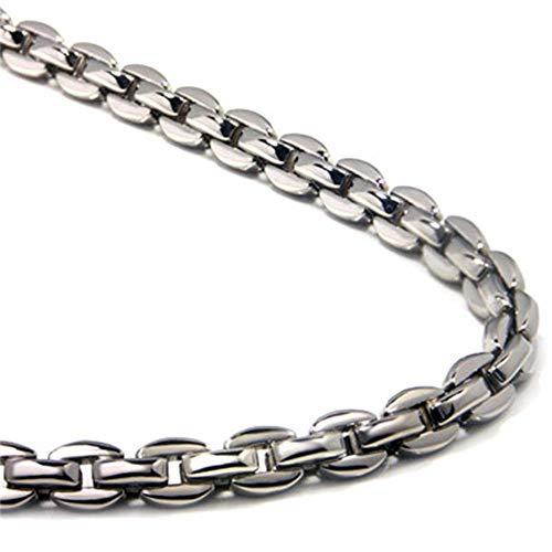 (Titanium Men's 5MM Oval Link Necklace Chain 20