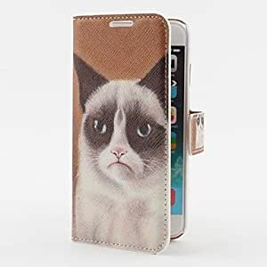 ZMY Crippy Cat Pattern PU Leather Case with Stand and Card Slot for iPhone 6